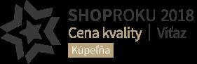 Shoproku 2018 Víťaz ceny kvality v kategórii Kúpeľne