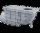 Alcaplast AGV3S lapač bočný šedý 300 × 155/110