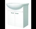 EDEN skrinka PX 04 M1F1 biela/biela 55x70,5x32 s umývadlom Lyra Plus 60x4x46