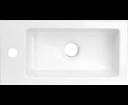 Latus 55510 umývadlo 45x2x23cm, liaty mramor, biele