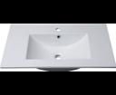 Slim 1601-75 keramické umývadlo 75x46cm, nábytkové