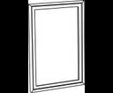 Retro 1686 zrkadlo 70x115 cm, starobiela