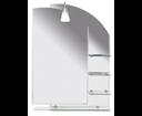 Wega 65028 zrkadlo 65x90cm, zaoblené, s policami