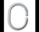 Ridder 49301 krúžky na sprchový záves 12 ks, plast - C, biele