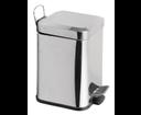 Simple Line GAQ003 odpadkový kôš hranatý 3l, leštená nerez