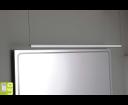 Fromt Touchless ED677 LED závesné svietidlo 77 cm, 12W, bezdotykový senzor, hliník