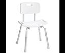 Ridder A00602101 stolička s operadlom, nastaviteľná výška, biela