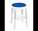 Ridder A0050401 stolička otočná, nastavitelná výška, biela/modrá