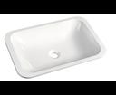 Japura 50135 umývadlo 55x36 cm, liaty mramor, biele, zápustné