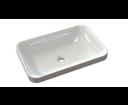 Astoria 55033 umývadlo 55x37cm, liaty mramor, biele, zápustné
