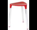 Yannis 217206 kúpeľňová stolička, 37x43,5x32,3 cm, červená
