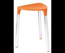 Yannis 217267 kúpeľňová stolička, 37x43,5x32,3 cm, oranžová