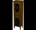 Cross CR013 skrinka vysoká, 49x170x39 cm, pravá, mahagón