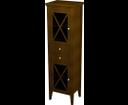 Cross CR014 skrinka vysoká 49x170x39 cm, ľavá, mahagón