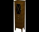 Cross CR016 skrinka vysoká košom 49x170x39 cm, ľavá, mahagón