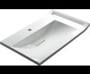 Lupo LP072 umývadlo 72x45 cm, liaty mramor, biele