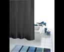 Satin 47850 sprchový záves 180x200cm, textil, čierny