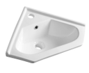 Aqualine 1601-40 keramické umývadlo rohové 40x19x40cm, nábytkové