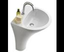 Aquatech 374101 keramické umývadlo na postavenie k stene 60x85x51cm, bez prepadu