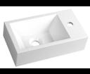 Amarok AR500 umývadlo 40x11x22cm, biele, batéria vpravo