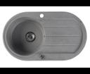 Sapho GR1203 granitový drez s odkvapom 86x50 cm, šedý