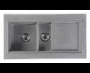 Sapho GR1303 granitový drez s odkvapom a vaničkou 95,8x53,4 cm, šedý