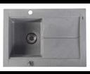 Sapho GR1503 granitový drez s odkvapom 76,5x53,5 cm, šedý