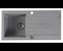 Sapho GR1603 granitový drez s odkvapom 86x43,5 cm, šedý