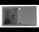 Sapho GR1803 granitový drez s odkvapom 86,2x50 cm, šedý