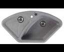 Sapho GR1903 granitový drez rohový s odkvapom 105x56 cm, šedý