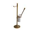 Astor MC132 stojan s držiakom na toaletný papier a WC kefou, bronz