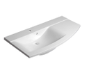 Aras 91060 umývadlo 105,2x50,5cm, liaty mramor, s odkladacou plochou vpravo, biele