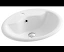 Aqualine 57471 keramické umývadlo 57x47x18,5 cm, zápustné