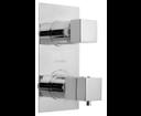 Latus 1102-85 podomietková vaňová termostatická batéria, 2 výstupy, chróm