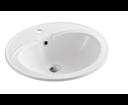 Aqualine 55481 keramické umývadlo 55x48x19 cm, zápustné