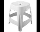 Aqualine 15036.W stolička kúpeľňová s úložným priestorom, biela