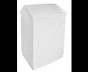 Aqualine 14027 odpadkový kôš výklopný, 55 l, biely plast ABS
