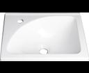 Aqualine LM408 umývadlo 40x32cm, liaty mramor, biele