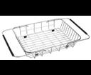 Sapho EP100 nerezový košík k drezom, 25x44x8 cm