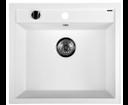 Sapho GR1001 granitový drez, 57x51 cm, biely