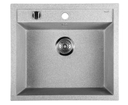 Sapho GR1003 granitový drez, 57x51 cm, šedý