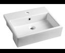 Isvea Purity 10PL52050 hranaté umývadlo polozápustné 50x42 cm
