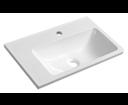 Arana AN055 umývadlo 56x11x35cm, liaty mramor, biele, ľavé
