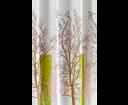 Aqualine ZP009/180 sprchový záves 180x180cm, polyester, biely/zelený, strom