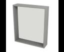 Riwa RW611 policové zrkadlo 60x70x15 cm, dub strieborný
