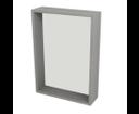 Riwa RW511 policové zrkadlo 50x70x15 cm, dub strieborný