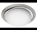 Metuje AU467 stropné LED svietidlo 12W, 230V, priemer 28,5cm, chróm/brúsený chróm