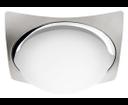 Metuje AU466 stropné LED svietidlo 12W, 230V, 26x26 cm, chróm/brúsený chróm