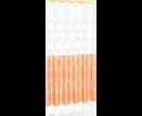 Aqualine 16474 sprchový záves 180x180cm, 100% polyester, biely/oranžový