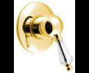 Kirké Crystal KI41KZ podomietková sprchová batéria, 1 výstup, krištáľová páčka, zlato